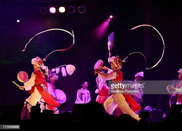Palsandae Korean Performing Arts featuring Korean traditional music with acrobatic and dance Shamanic prayer songs Pansori and Pangut in Rainforest...