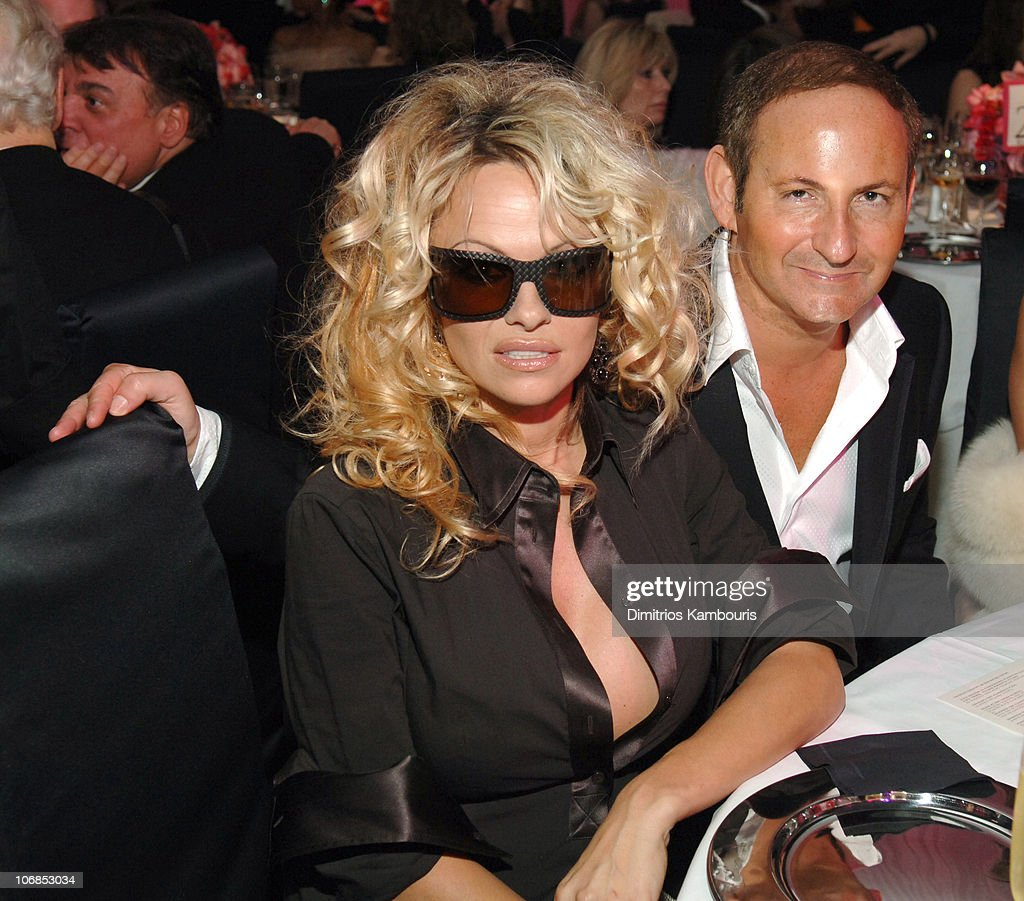 Pam Anderson and John Demsey President of MAC Cosmetics