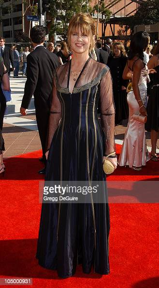 Pam Dawber during 2002 Creative Arts Emmy Awards Arrivals at Shrine Auditorium in Los Angeles California United States