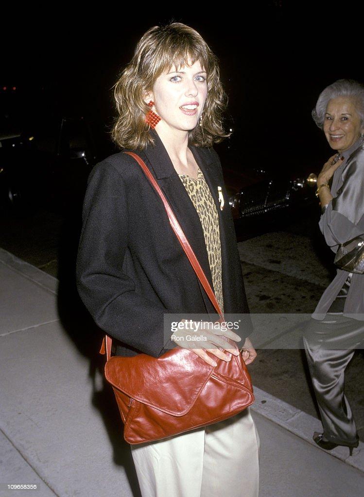 Pam Dawber during Pam Dawber Sighting at Chasen's Restaurant May 28 1986 at Chasen's Restaurant in Los Angeles California United States