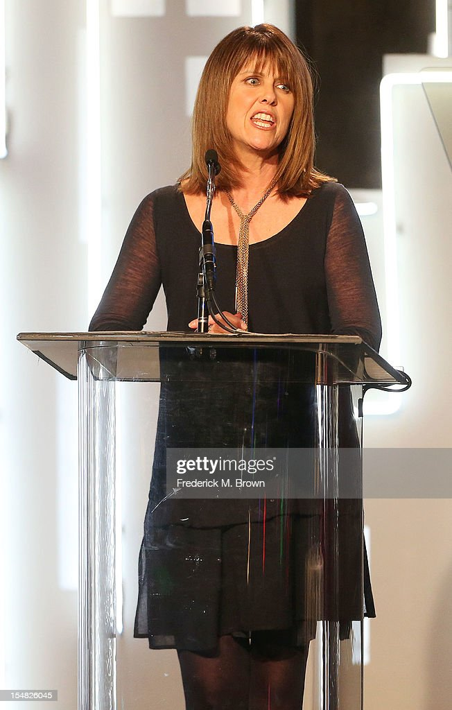 Pam Dawber speaks during Big Brother Big Sister Of Greater Los Angeles 2012 Rising Stars Gala at The Beverly Hilton Hotel on October 26 2012 in...