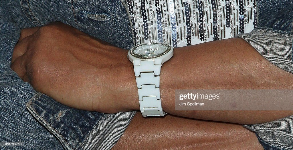 Pam Grier (jewelry detail) attends 'Foxy, The Complete Pam Grier' Film Series at Walter Reade Theater on March 15, 2013 in New York City.