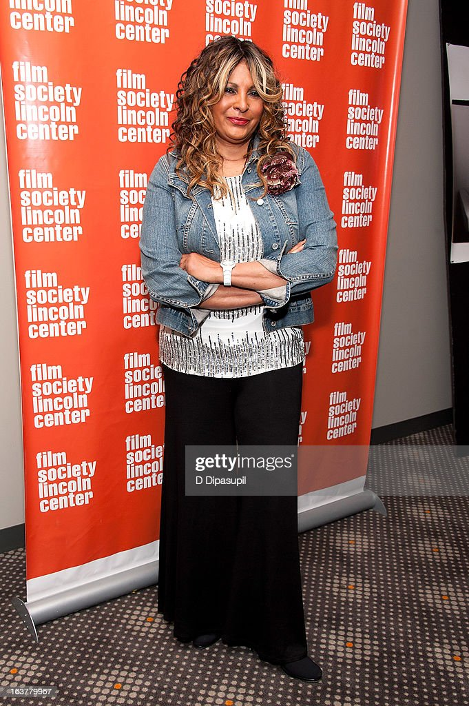 <a gi-track='captionPersonalityLinkClicked' href=/galleries/search?phrase=Pam+Grier&family=editorial&specificpeople=227048 ng-click='$event.stopPropagation()'>Pam Grier</a> attends the 'Foxy, The Complete <a gi-track='captionPersonalityLinkClicked' href=/galleries/search?phrase=Pam+Grier&family=editorial&specificpeople=227048 ng-click='$event.stopPropagation()'>Pam Grier</a>' Film Series at Walter Reade Theater on March 15, 2013 in New York City.