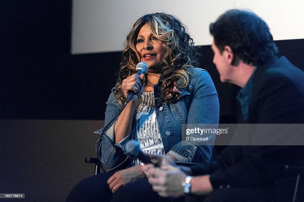 Pam Grier (L) attends the 'Foxy, The Complete Pam Grier' Film Series at Walter Reade Theater on March 15, 2013 in New York City.