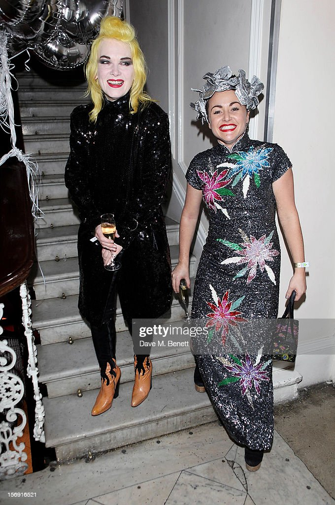Pam Hogg (L) and Jaime Winstone attend the Cuckoo Club and Show Pony pop up club, celebrating Cuckoo's 7th birthday, at 6 Grosvenor Place on November 24, 2012 in London, England.