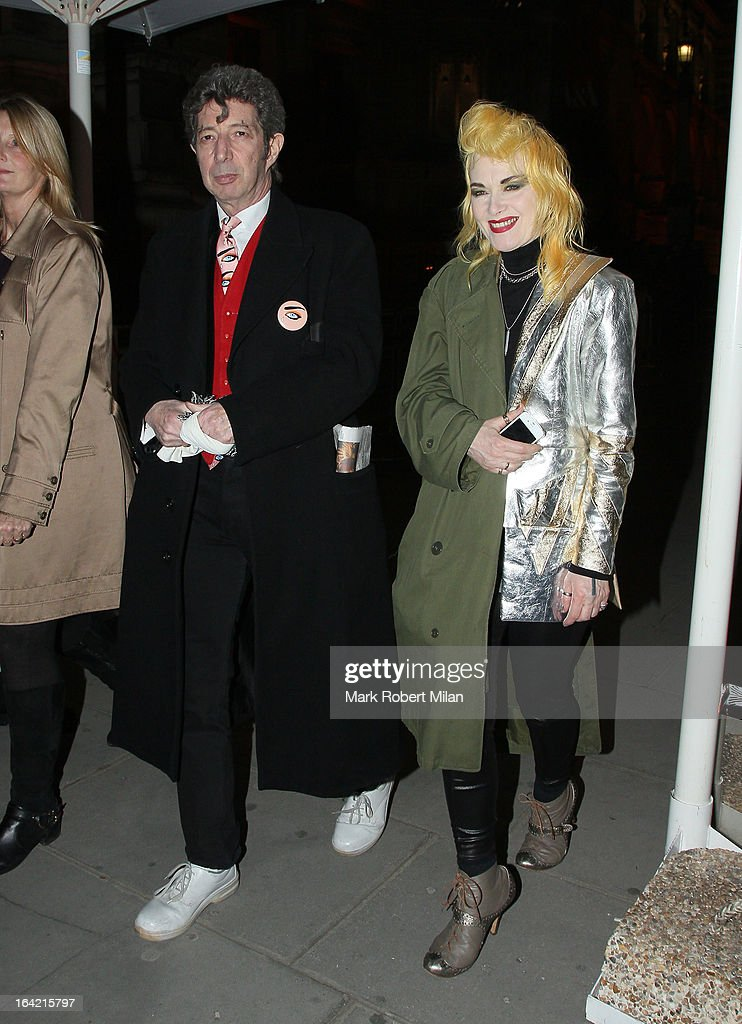 Pam Hogg at the private view of 'David Bowie Is' at Victoria & Albert Museum on March 20, 2013 in London, England.