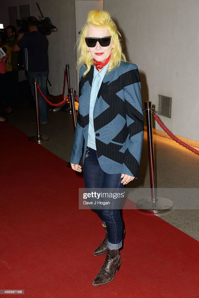 Pam Hogg attends the '20000 Days on Earth' Gala preview screening at Barbican Centre on September 17 2014 in London England