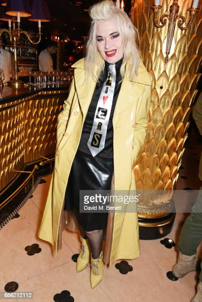 Pam Hogg attends the Another Man Spring/Summer Issue launch dinner in association with Kronaby at Park Chinois on March 21 2017 in London England