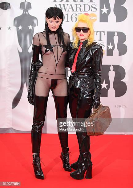Pam Hogg attends the BRIT Awards 2016 at The O2 Arena on February 24 2016 in London England