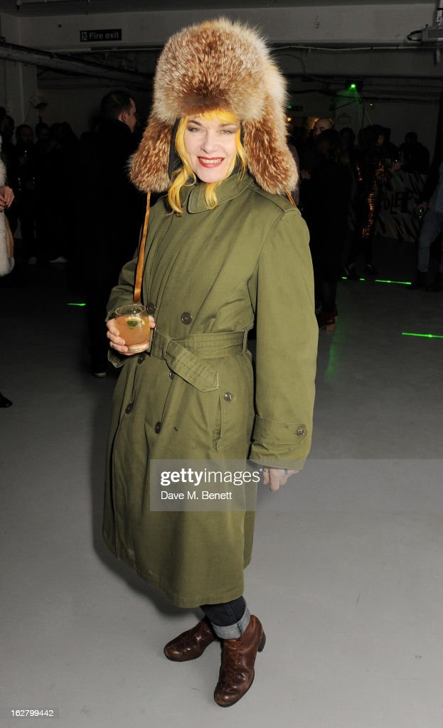 <a gi-track='captionPersonalityLinkClicked' href=/galleries/search?phrase=Pam+Hogg+-+Fashion+Designer&family=editorial&specificpeople=235389 ng-click='$event.stopPropagation()'>Pam Hogg</a> attends the launch of artist Dinos Chapman's first album 'Luftbobler' at The Vinyl Factory on February 27, 2013 in London, England.