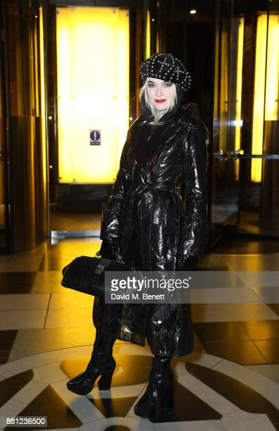 Pam Hogg attends the launch of the Circular Fibres Initiate Report 'Towards A New Textiles Economy' hosted by Dame Ellen MacArthur and Stella...