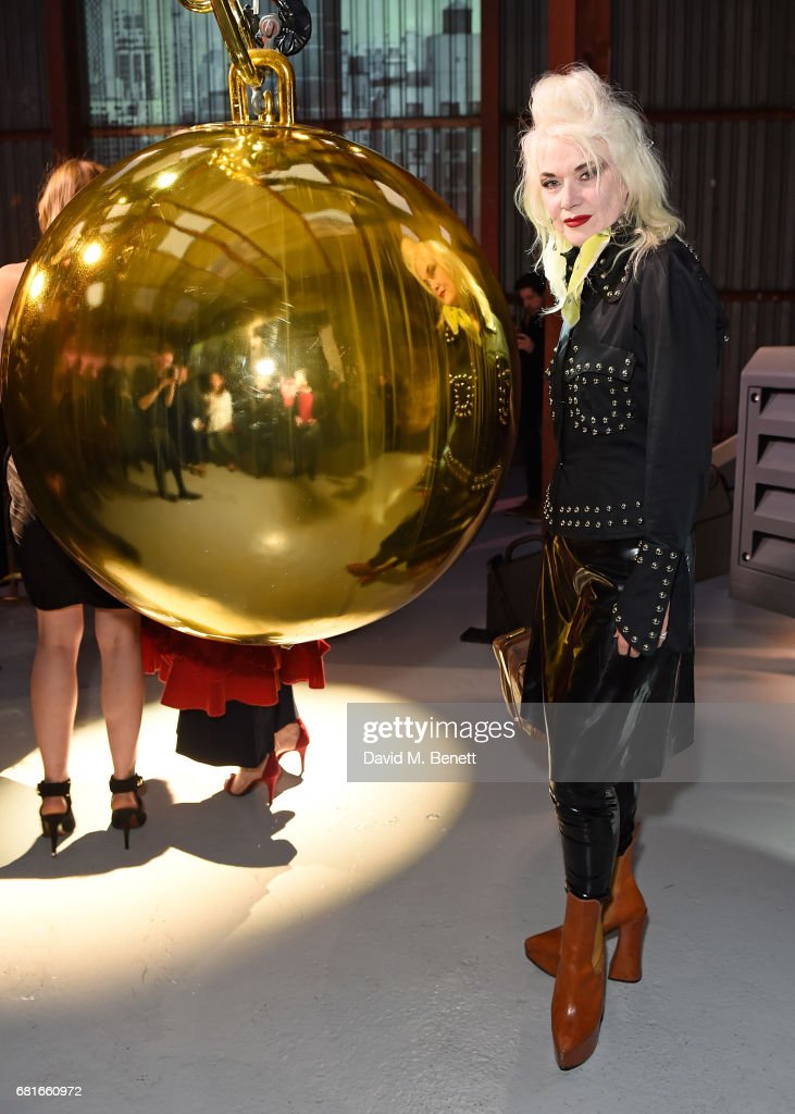 Pam Hogg attends the launch of Tiffany & Co. City Hardwear Collection on May 10, 2017 in London, England.