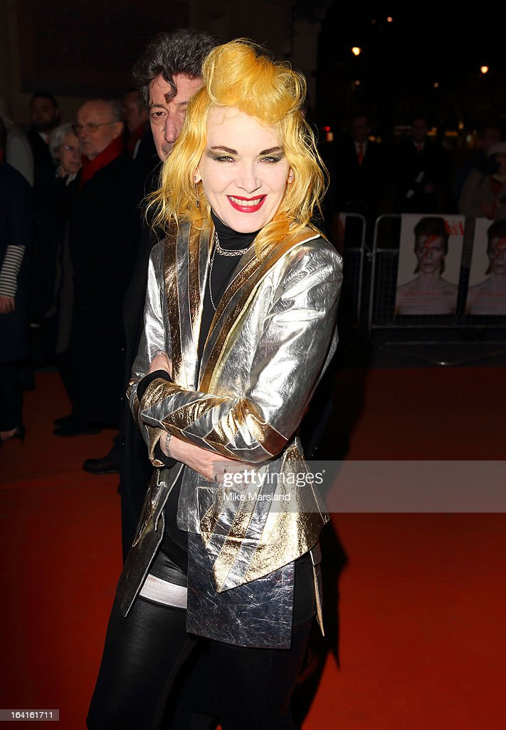 Pam Hogg attends the private view of 'David Bowie Is' at Victoria & Albert Museum on March 20, 2013 in London, England.