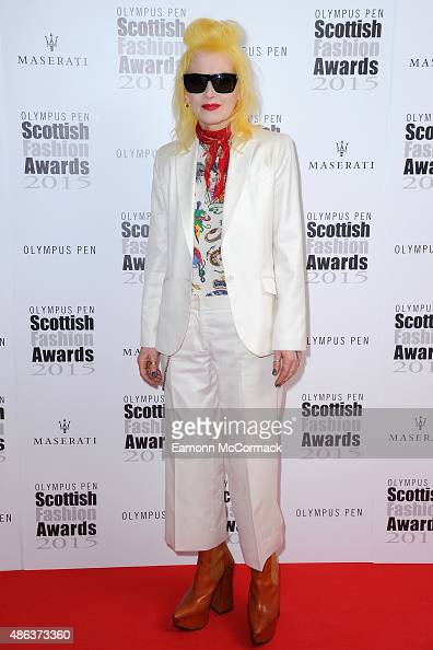 Pam Hogg attends the Scottish Fashion Awards at Corinthia Hotel London on September 3 2015 in London England