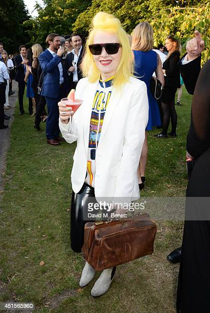 Pam Hogg attends The Serpentine Gallery Summer Party cohosted by Brioni at The Serpentine Gallery on July 1 2014 in London England