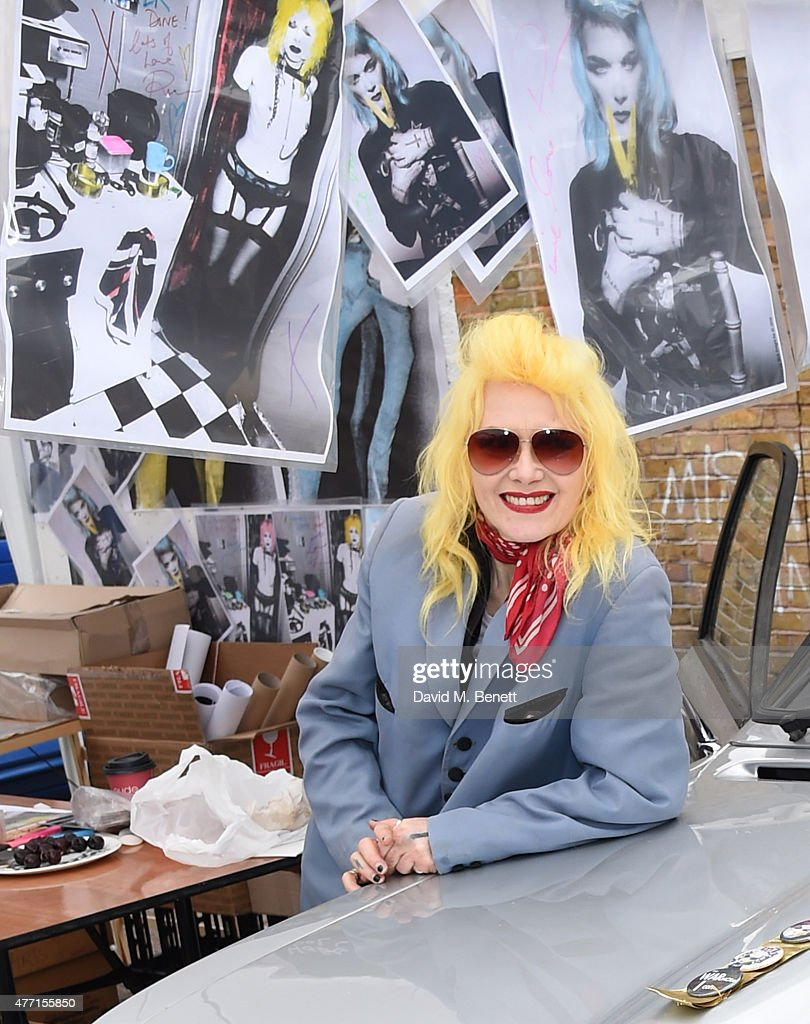 Pam Hogg attends the Vauxhall Art Car Boot Fair 2015 on June 14, 2015 in London, England.