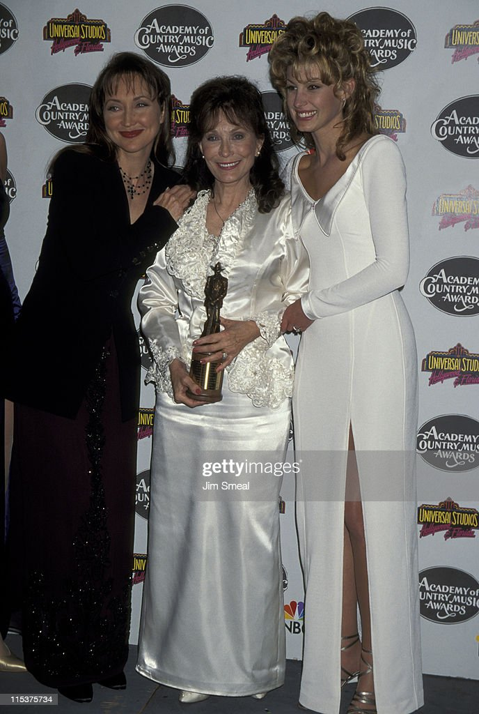 Pam Tillis, <a gi-track='captionPersonalityLinkClicked' href=/galleries/search?phrase=Loretta+Lynn&family=editorial&specificpeople=213139 ng-click='$event.stopPropagation()'>Loretta Lynn</a>, And <a gi-track='captionPersonalityLinkClicked' href=/galleries/search?phrase=Faith+Hill&family=editorial&specificpeople=175933 ng-click='$event.stopPropagation()'>Faith Hill</a> during 30th Annual Academy of Country Music Awards at Universal Amphitheatre in Universal City, California, United States.