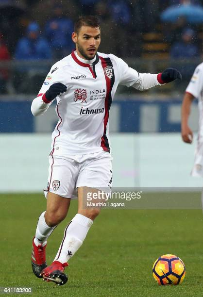 Pamagiotis Tachtsidis of Cagliari during the Serie A match between Atalanta BC and Cagliari Calcio at Stadio Atleti Azzurri d'Italia on February 5...