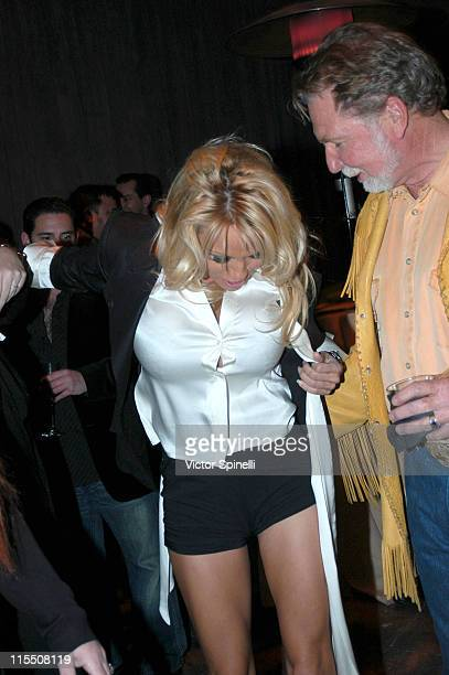 Pamala Anderson and friends during Hugh Hefner and International Images Launch the Playboy Legacy Collection at Republic at Republic in Los Angeles...