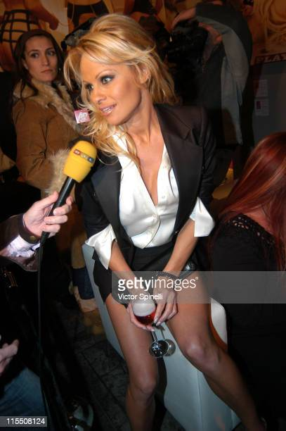 Pamala Anderson during Hugh Hefner and International Images Launch the Playboy Legacy Collection at Republic at Republic in Los Angeles California...