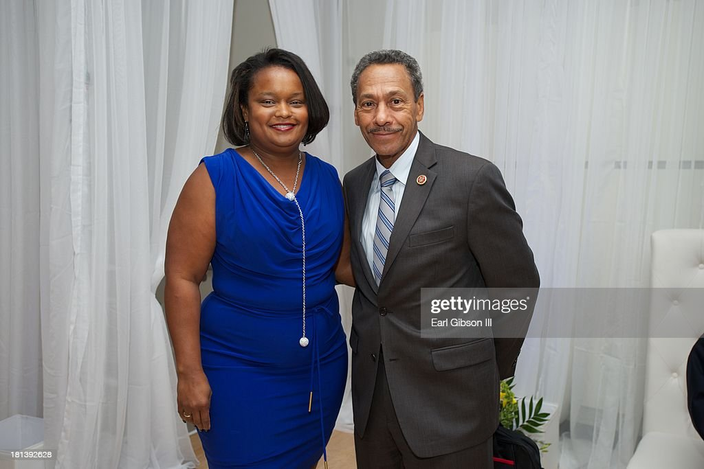 Pamela Alexander and Rep Melvin Watt pose for a photo at the 'Motown Live' Presented By Ford on Day 3 of the 43rd Annual Legislative Conference on...