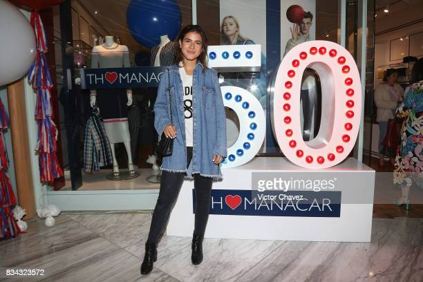 Pamela Allier attends the Tommy Hilfiger Mexico City store opening at Torre Manacar on August 17 2017 in Mexico City Mexico