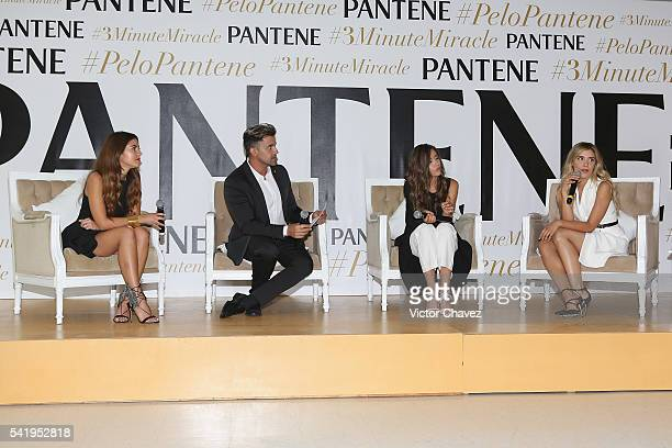Pamela Allier Celebrity hairstylist and makeup artist Gabriel Samra Paulina Goto and Michelle Salas attend the Pantene 3 Minute Miracle launch at...