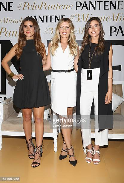 Pamela Allier Michelle Salas and Paulina Goto attend the Pantene 3 Minute Miracle launch at Polanco on June 21 2016 in Mexico City Mexico