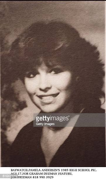 Pamela Anderson Age 17 Poses For Her 1985 High School Yearbook Photo In Canada