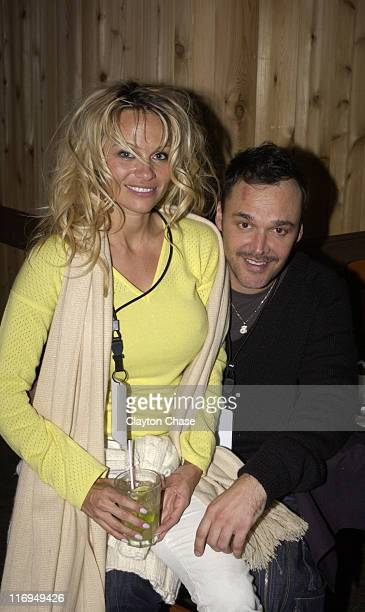 Pamela Anderson and David LaChapelle during 2005 Sundance Film Festival Intell 'Rize' Premiere Party at Empire Lodge in Park City Utah United States