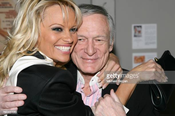 Pamela Anderson and Hugh Hefner