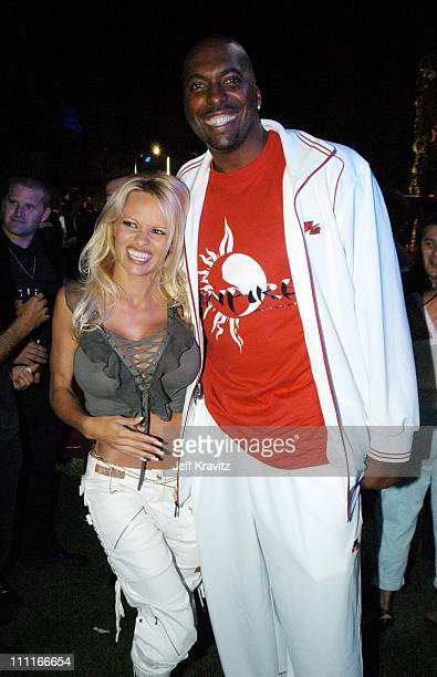 Pamela Anderson and John Salley during The Official Launch Party For Spike TV At The Playboy Mansion Inside at The Playboy Mansion in Bel Air...