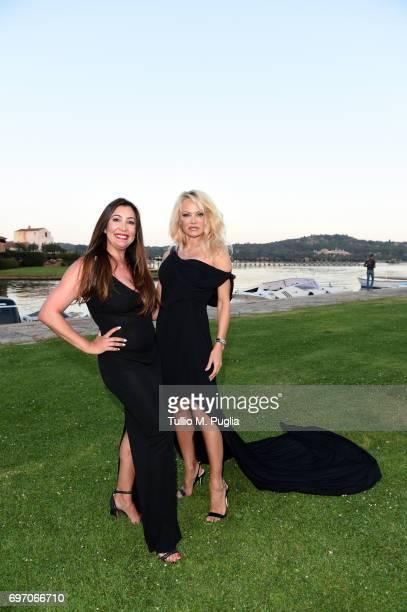 Pamela Anderson and Maria Bravo attend The Costa Smeralda Invitational Gala Dinner at Cala di Volpe Hotel Costa Smeralda on June 17 2017 in Olbia...