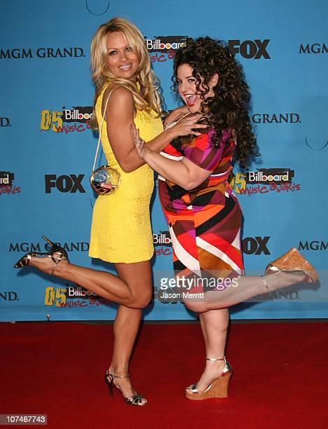 Pamela Anderson and Marissa Jaret Winokur during 2005 Billboard Music Awards Arrivals at MGM Grand in Las Vegas Nevada United States