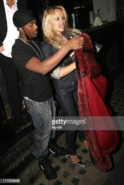 Pamela Anderson and Ray J during Pamela Anderson Sighting at the Kabaret Club March 13th 2006 in London Great Britain