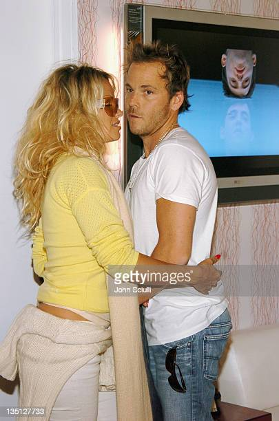 Pamela Anderson and Stephen Dorff at Fred Segal during 2005 Park City Fred Segal Boutique at Village at the Lift at Village at the Lift in Park City...