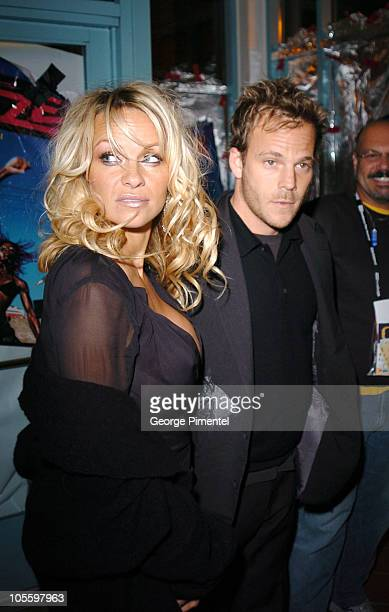 Pamela Anderson and Stephen Dorff during 2005 Sundance Film Festival 'Rize' After Party at The Gateway Center in Park City Utah United States