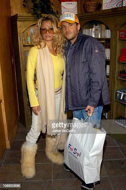 Pamela Anderson and Stephen Dorff in Fred Segal Salon at Village at the Lift