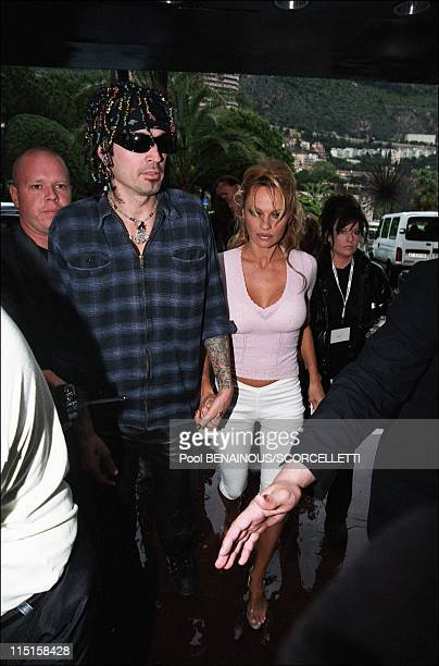Pamela Anderson and Tommy Lee in Monaco City Monaco on May 04 1999 Tommy Lee and Pamela Anderson