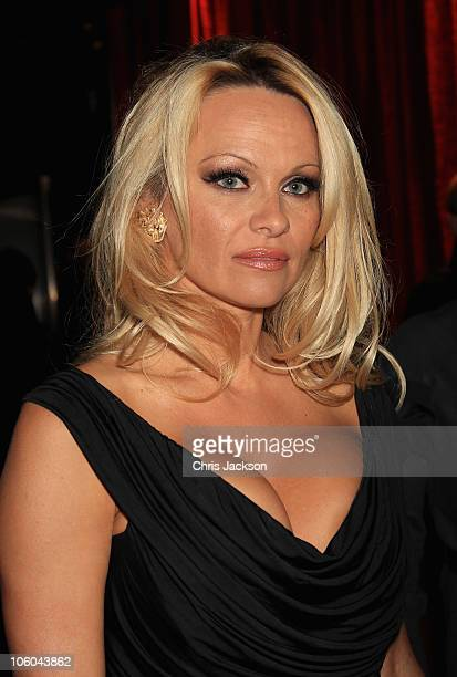 Pamela Anderson arrives at the Commuter Premiere at Aqua on October 25 2010 in London England
