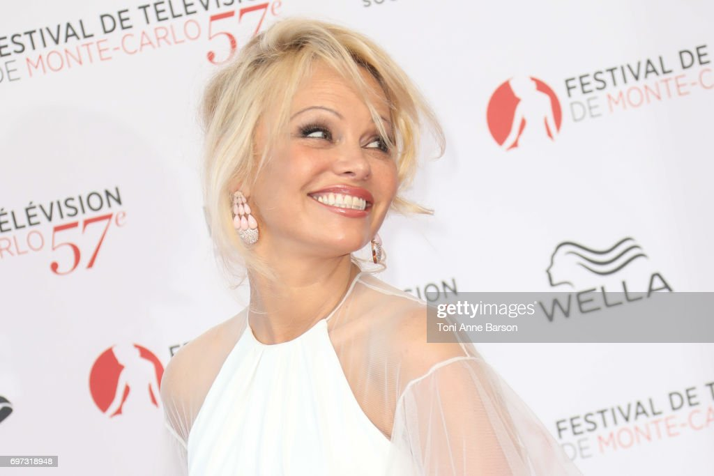 Pamela Anderson arrives at the Opening Ceremony of the 57th Monte Carlo TV Festival and World premier of Absentia Serie on June 16, 2017 in Monte-Carlo, Monaco.