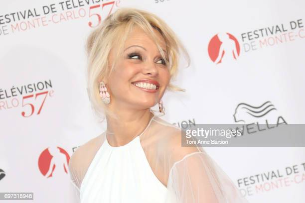 Pamela Anderson arrives at the Opening Ceremony of the 57th Monte Carlo TV Festival and World premier of Absentia Serie on June 16 2017 in MonteCarlo...