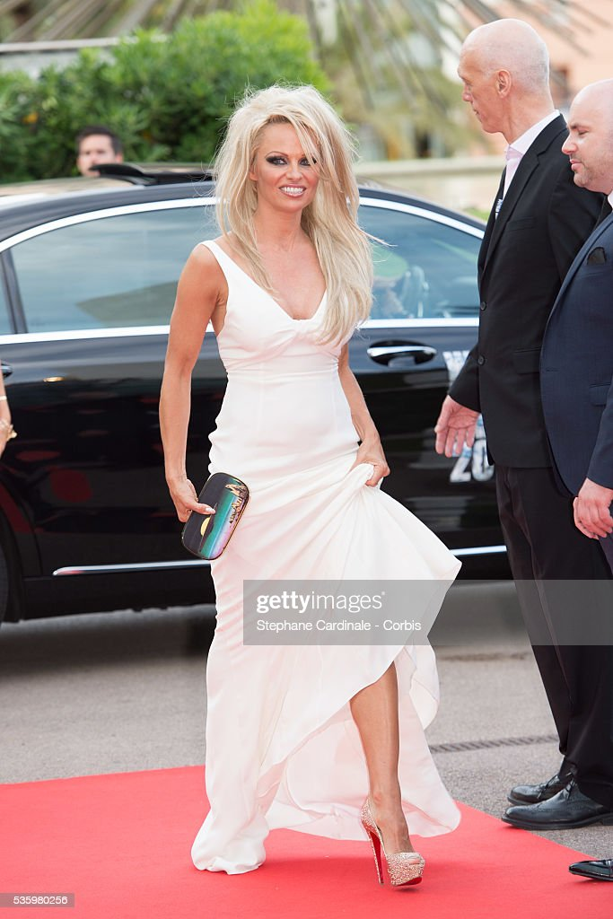 Pamela Anderson arrives at the World Music Awards at Sporting Monte-Carlo on May 27, 2014 in Monte-Carlo, Monaco.