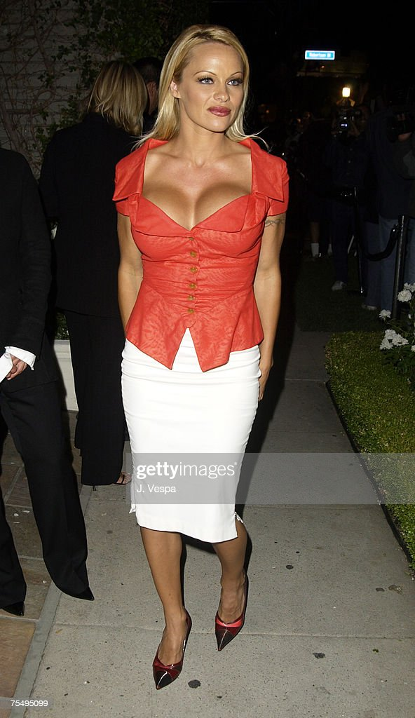 Pamela Anderson at the Stella McCartney Store in Los Angeles, California