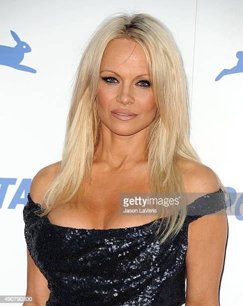 Pamela Anderson attends PETA's 35th anniversary party at Hollywood Palladium on September 30 2015 in Los Angeles California