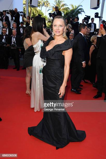 Pamela Anderson attends the '120 Beats Per Minute ' screening during the 70th annual Cannes Film Festival at Palais des Festivals on May 20 2017 in...