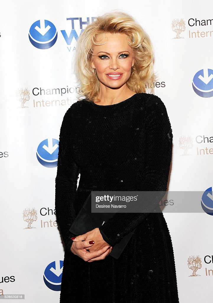 Pamela Anderson attends the 4th Annual Champions Of Jewish Values International Awards Gala at Marriott Marquis Broadway Ballroom on May 5, 2016 in New York City.