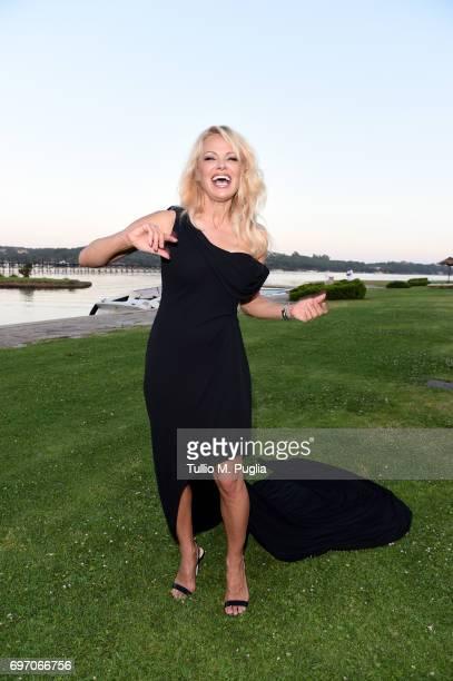 Pamela Anderson attends The Costa Smeralda Invitational Gala Dinner at Cala di Volpe Hotel Costa Smeralda on June 17 2017 in Olbia Italy