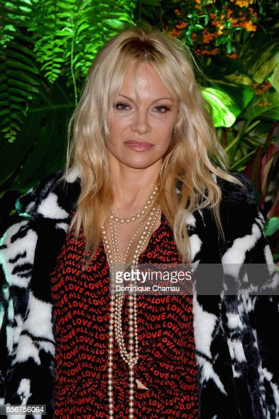 Pamela Anderson attends the Fashion Tech Lab Launch Event Hosted By Miroslova Duma And Stella McCartney as part of Paris Fashion Week Womenswear...