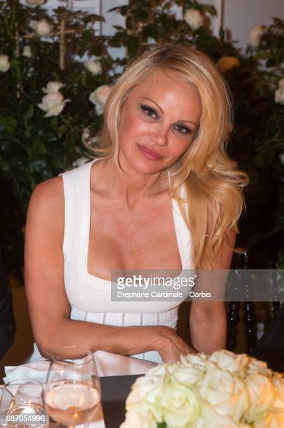 Pamela Anderson attends The Harmonist Party during the 70th annual Cannes Film Festival at on May 22 2017 in Cannes France